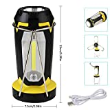 LED Camping Lantern - Jingrong LED Camping Lantern Rechargeable,Portable Collapsible Clover Style Tent Lantern Lighting Lights Flashlights by USB Charging for Phone Charging,Emergency,Hurricane,Outage and More