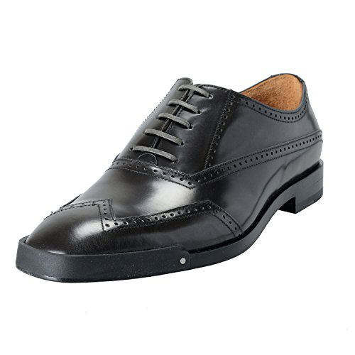 Versace Mens Scarpe In Pelle Nere A Punta Oxford Taglia Us 11 It 44