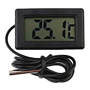 Weiyuan Mini Digital Fridge Thermometer Black LCD Display4.8*2.85*1.5 cm