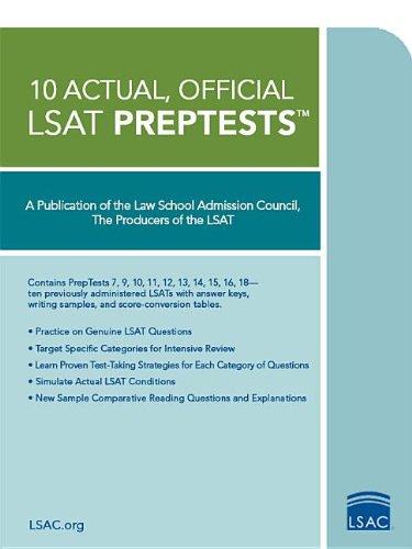 10 Actual, Official LSAT PrepTests