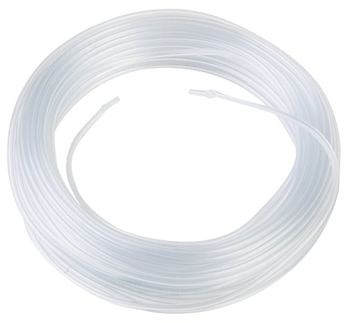 """Hudson Exchange Plastic Tubing for Beads and Bracelets, Clear, 1/16"""" ID x 1/8"""" OD x 1/32"""" Wall, 50 feet Length"""