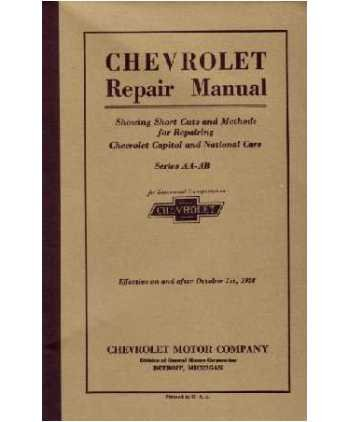 1927 1928 Chevrolet Car Truck Shop Service Repair Manual Book Engine Electrical