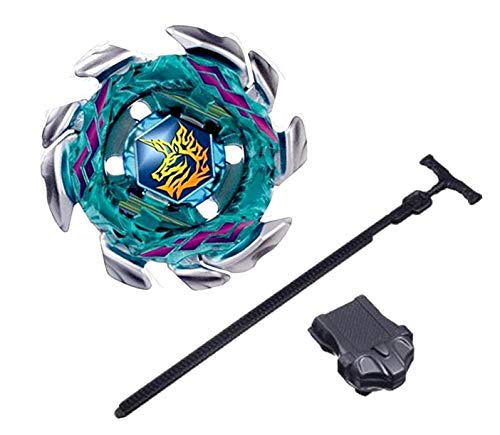 - Bey Battle Blade Burst Matel Fusion Turbo Pegasus Blitz Striker Unicorno BB117 with Ripcord Ruler Launcher Set Battling Top Fury Toy for Prime