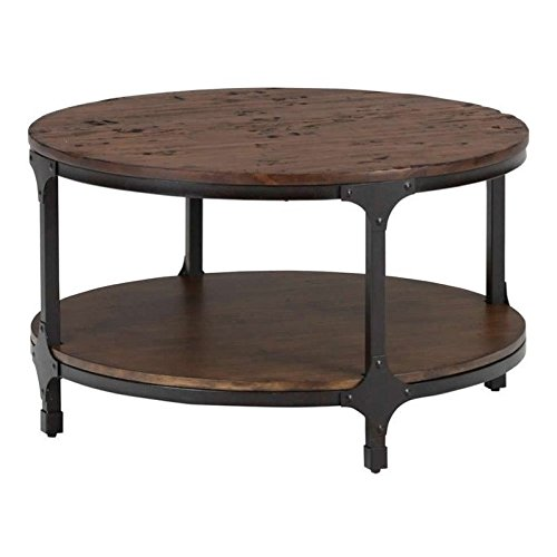 Jofran Urban Nature Wood Round Coffee Table in Pine Review