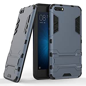 Xiaomi Mi 6 Hybrid Case DWaybox 2 in 1 Heavy Duty Armor Hard Back Cover Case with kickstand for Xiaomi Mi 6 5.15 Inch (Black Plus Gray)