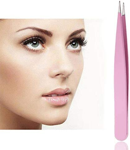 GUOJIAYI 4本のステンレス鋼の眉毛クリップピンセット眉毛美容ツール4色の眉毛ピンセット