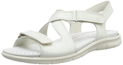 ECCO Footwear Womens Babett Cross Sandal Dress Sandal, Shadow White, 41 EU/10-10.5 M US