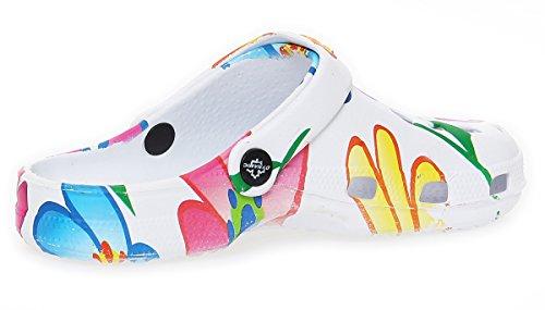 Mujer Zuecos Zapatos de playa Zapatos del jardín Zapatillas de sauna Sandalias CL 263 colorido