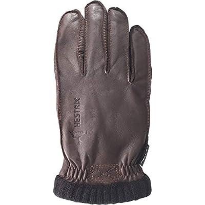 Hestra Mens Leather Work Gloves: Deerskin Primaloft Rib Winter Glove