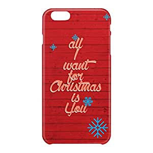 Loud Universe Apple iPhone 6 Plus 3D Wrap Around All I Want For Christmas Print Cover - Red
