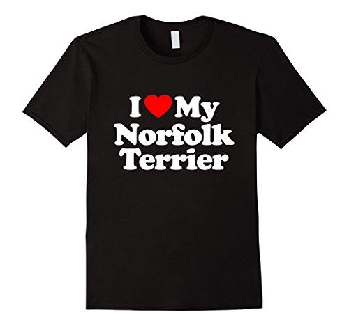 Love My Norfolk Terrier Heart Funny T-Shirt Short - Norfolk For Group Women