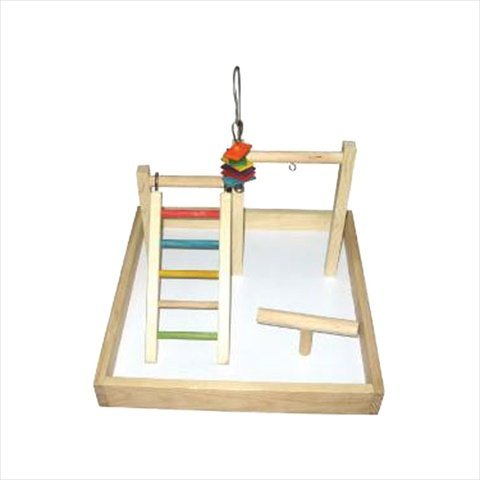 17x17x12 Wood Tabletop Play Station by A&E Cage Co.