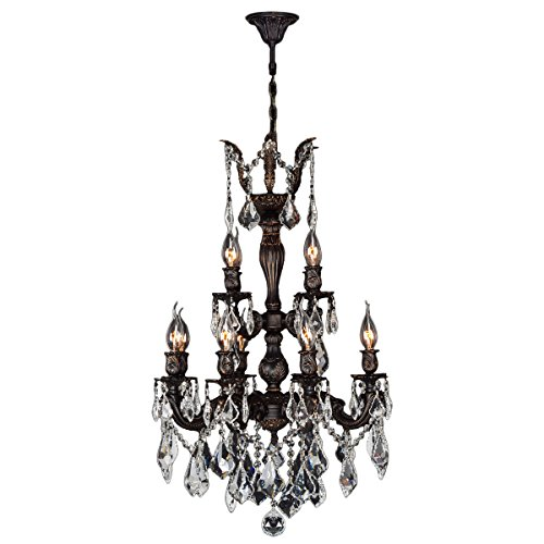 Worldwide Lighting Versailles Collection 12 Light Flemish Brass Finish and Clear Crystal Chandelier 21