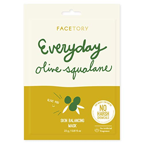 Everyday Olive Squalane Korean Sheet Mask (Single) - Balancing, Rejuvenating, and Moisturizing