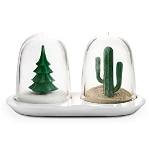 Unique Salt and Pepper Shakers Set Winter and Summer by Qualy Design Studio. Creative and Practical Home and Kitchen Accessory. Great Gift for Cooking Enthusiasts.