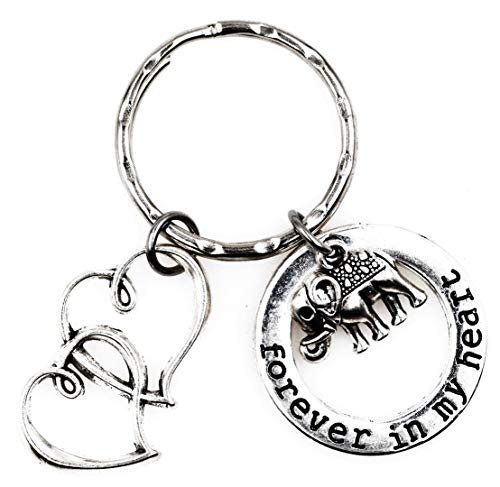 It's All About...You! Forever in My Heart Double Hearts Elephant Keychain 4C ()