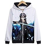 Sword Art Online Hoodie 3D Print Pullover Hoodie Kirito Asuna Sweatshirt Unisex Anime Expo(3,M)