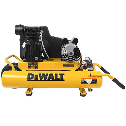 DeWalt DXCMTA1980854 Oil Lubricated Wheelbarrow Air Compressor, 8-Gallon, Cast Iron