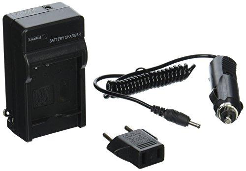 Panasonic Lumix DMC-F3, DMC-FH20, DMC-FP8, DMC-FS15, DMC-TS1, DMC-TS20 Compact Battery Charger by TechFuel Charges Panasonic DMW-BCF10, DMW-BCF10E, DMW-BCF10PP Batteries