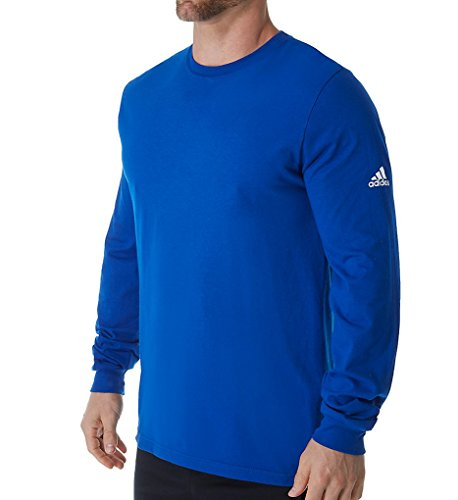 adidas Men's Climalite Ultimate Long Sleeve T-Shirt (Collegiate Royal - L)