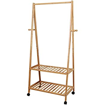 Amazon SONGMICS Garment Clothing Rack Bamboo Wood Coat Stand Magnificent Wooden Coat Hanger Rack