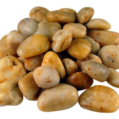 Polished River Stone, River Rocks - Amber (2 lbs bag) - 12 bags by Modern Vase & Gift