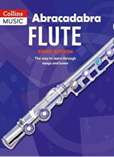 Abracadabra flute 3rd edition book. Sheet music learn how to play.