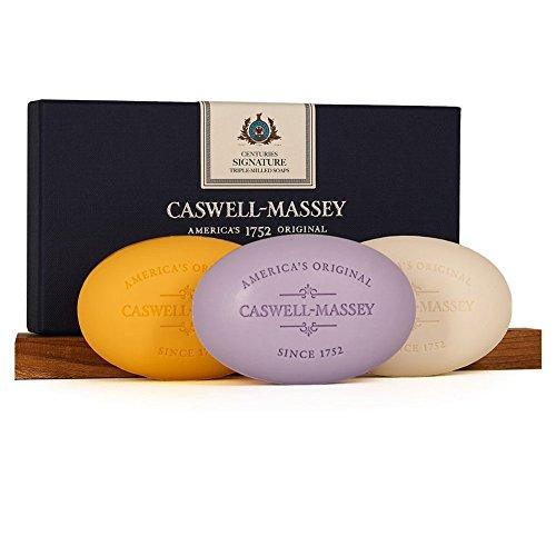 Caswell-Massey Triple Milled Luxury Bath Soap Signature Set - 3 Assorted Fragrances - 5.8 Ounces Each, 3 (Assorted Mens Fragrances)