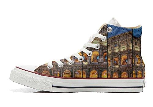 Schuhe Hi personalisierte Colosseo Customized Star Roma Schuhe Handwerk Converse All qnaZ00