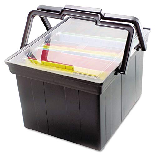 File Companion Portable Advantus - Advantus® Companion Letter/Legal Portable File Storage Box (Black)