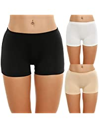 Ekouaer Boyshort Panties Women's Soft Underwear Briefs Invisible Hipster 3 Pack