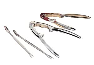 Amco 8 piece stainless steel seafood tool set for Lagostina kitchen tool set 8 pc