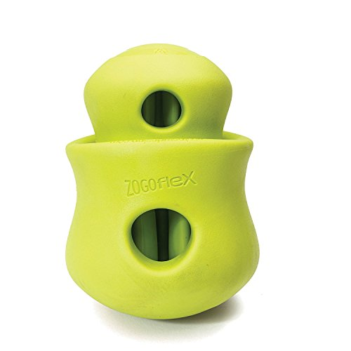 West Paw Zogoflex Toppl Interactive Treat Dispensing Dog Puzzle Play Toy, 100% Guaranteed Tough, It Floats!, Made in USA, Small, Granny Smith by West Paw (Image #5)