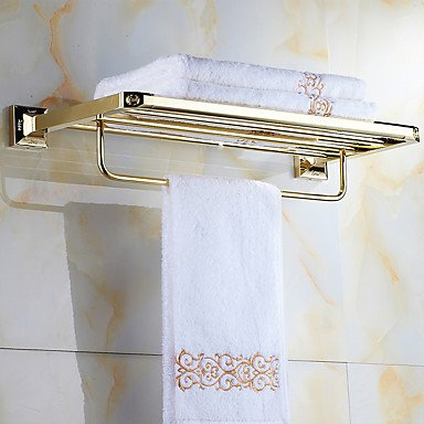 AMEA Mordern Gold Color Luxury Brass Rose Pattern 4pcs Bathroom Accessory Set by AMEA (Image #1)