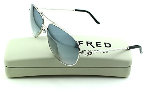 FRED 8463 Force 10 Sun C2 Unisex Aviator Sunglasses (Palladium Frame, Green Lens - Eyewear Lunette