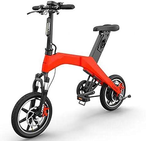 SHIJING Mini Plegable Bicicleta eléctrica de 36V Ciclo 350w 6.6Ah ...