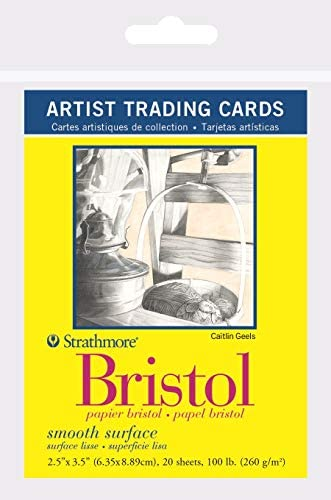 Strathmore 300 Series Bristol Artist Trading Cards Smooth Surface 20 Sheets