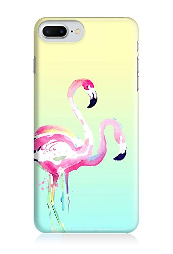 COVER Flamingo Aquarell Pastell Design Handy Hülle Case 3D-Druck Top-Qualität kratzfest Apple iPhone 7 Plus