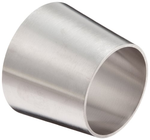 DixonB31W-R250200P Stainless Steel 316L Polished Fitting, Weld Concentric Reducer, 2-1/2