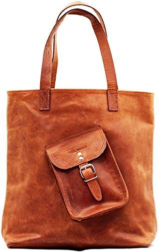 Einkaufstasche Farbe BronzeVintage-Ledertasche Handtasche Schultertasche Umhängetasche PAUL MARIUS Vintage & retro