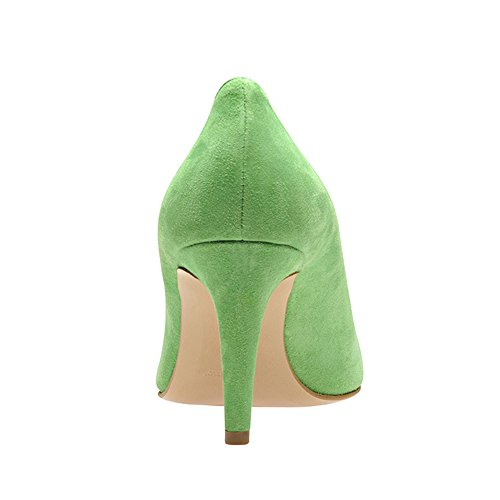 Verde verde mujer claro vestir Piel Zapatos de de Shoes Evita para gw8qTOq