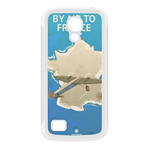 France White Silicon Rubber Case for Galaxy S4 Mini by Nick Greenaway + FREE Crystal Clear Screen Protector