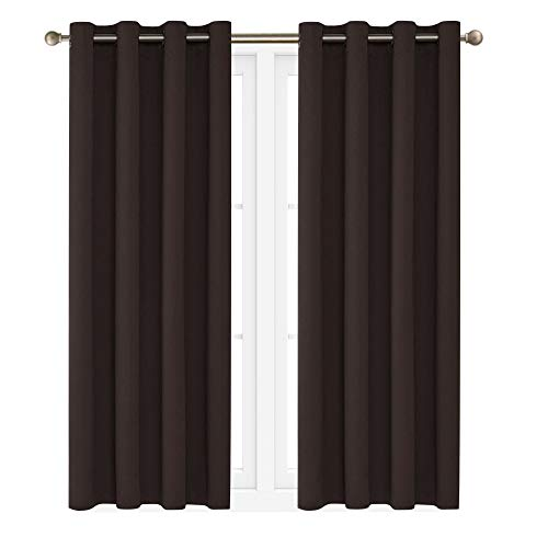 "Victoria Classics Neil 90"" Blackout Curtains Room Darkening Window Panel That are Thermal Insulated with a Grommet -Energy Saver (One Panel 90"" x 52"")"