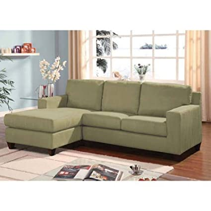 Amazon Com Versatile Microfiber Reversible Chaise Sectional Sofa