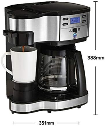 LNDDP Cafetera Americana, cafetera doméstica cafetera automática cafetera Goteo Modo Dual cafetera Reserva 351 mm נ291 mm נ388 mm Negro (Color: Negro): Amazon.es: Deportes y aire libre