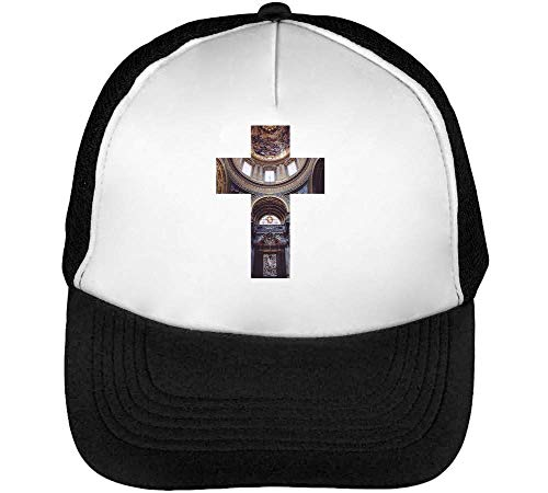 Gorras Beisbol Hipster Negro Church Snapback Cross Blanco Hombre qUERg6