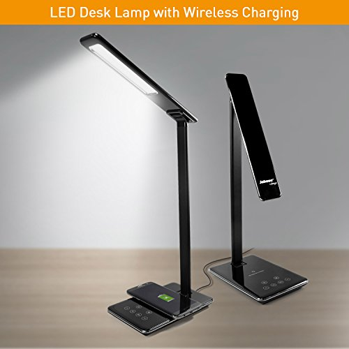 Jabees Q9 LED Desk Lamp with Qi Wireless Charger...