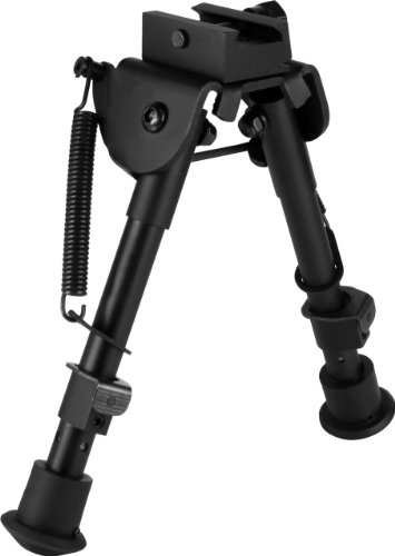 AIM SPORTS Tactical Spring Tension Bipod, Short, Black