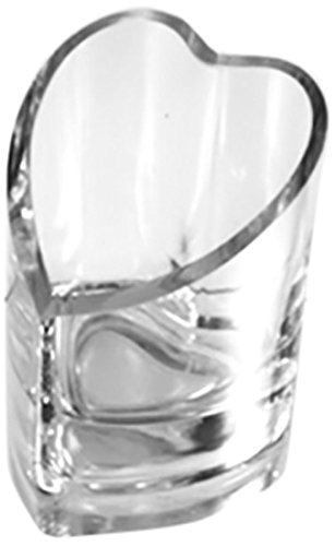 WGV Clear Heart Candle Holder Glass Vase, 4-Inch