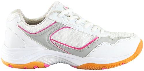 Ultrasport Sport Indoor Schuh, Zapatillas de Deporte para Unisex adulto Blanco/Rosa